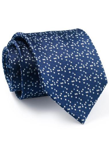 Mẫu Cravat Đẹp 11 - Màu Xanh Đen Chấm Trắng