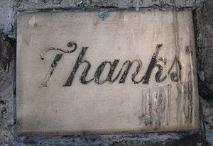 New Orleans: Thank you message in the grotto o...