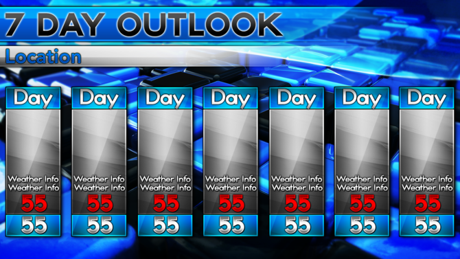 Blank 5 Day Weather Forecast Related Keywords & Suggestions ...
