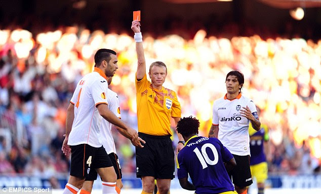 Helping hand: Swansea were aided early on when Adil Rami was sent off