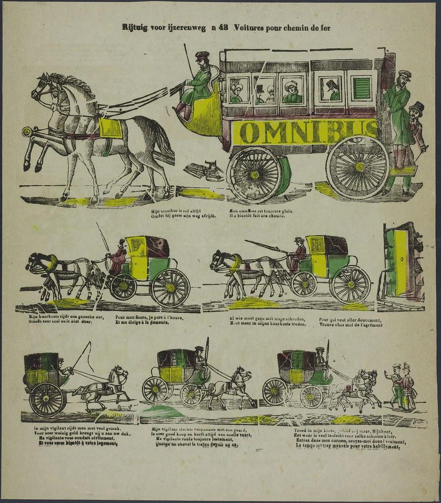 Rijtuig voor ijzerenweg - Voitures pour chemin de fer  by Glenisson en Zonen 1856-1900