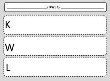 Printable Kwl Chart Calendar June