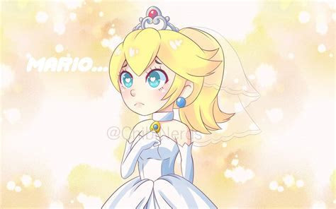 Chibi Princess Peach with wedding dress by ChibiNerds on