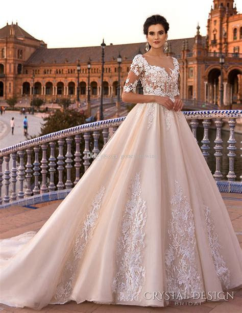 Blush Royal Train Princess Ball Gown A Line Wedding