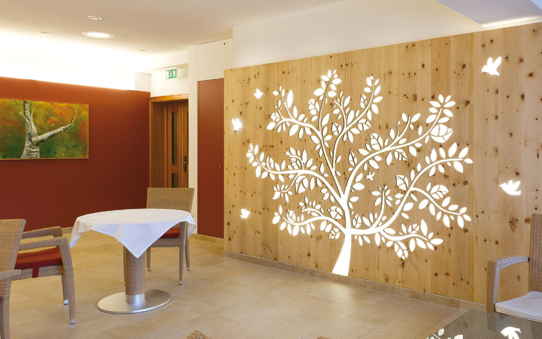 Wood Decorative Panel For Partition Walls Perforated Dorfhotel