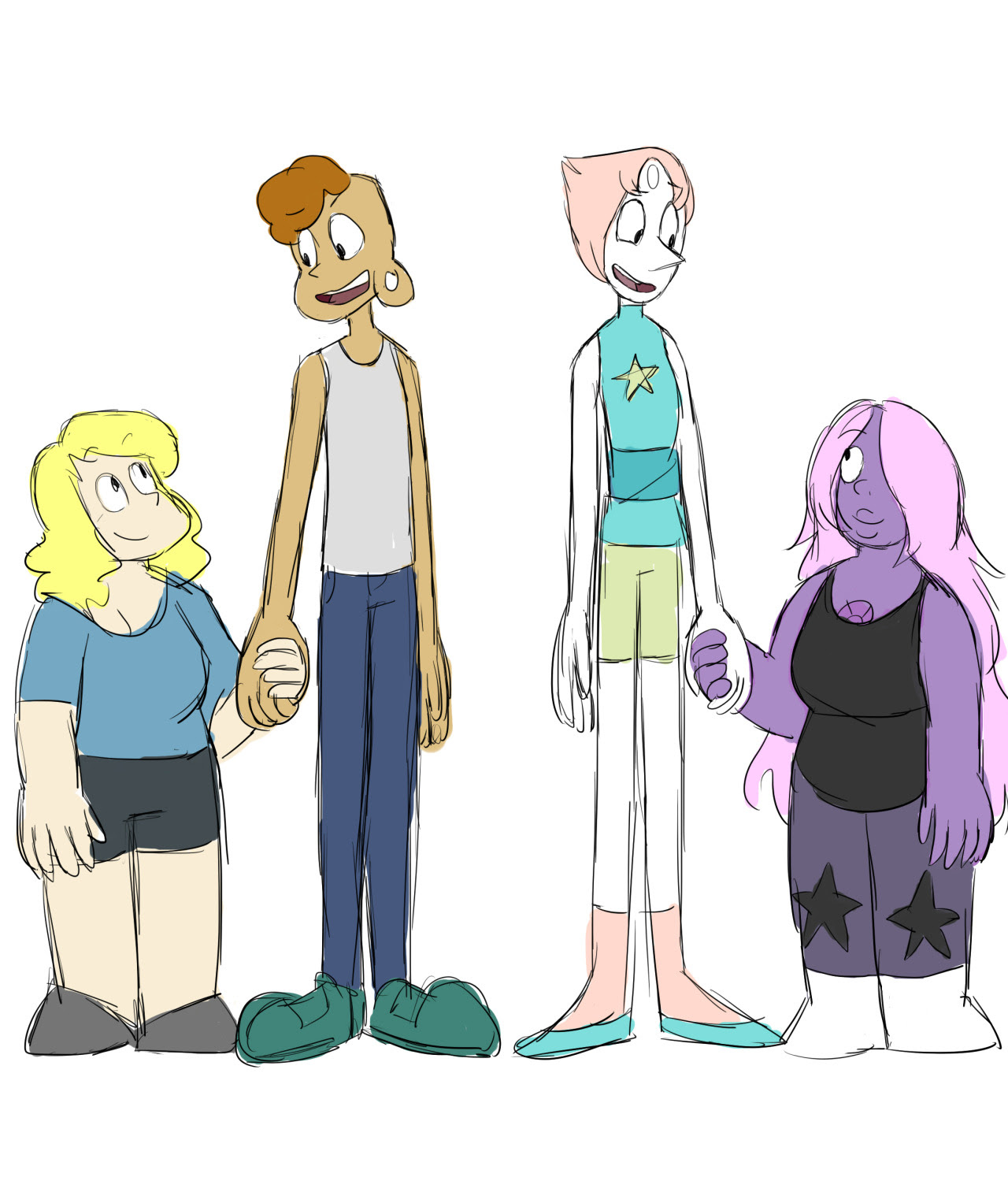 tall, thin, easily flustered redheads and their short chubby gfs who are always ready to fight