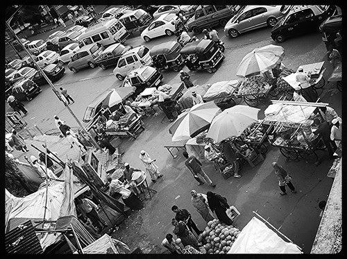 The Iftar Time Mad Rush Bandra SV Road ... Shot From The Skywalk by firoze shakir photographerno1