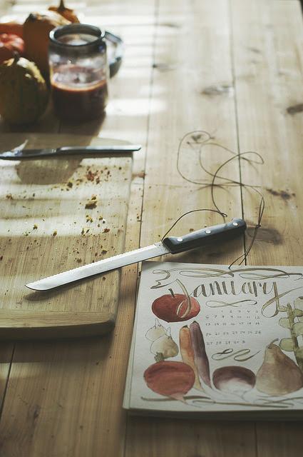 seasonal foods calendar by sewindie on Flickr.