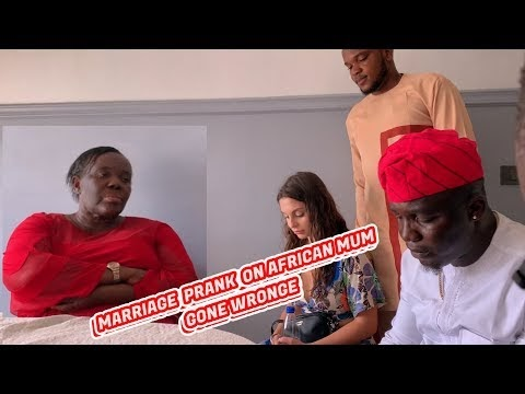 Prank (Video): Zfancy Prank - African Marriage Gone Wrong