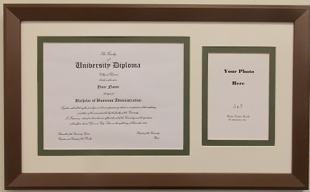 University Diploma Certificate Frame 8 12 X 11 With 5x7 Photo