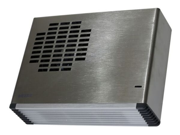 Wall Mounted Bathroom Fan Heater Brushed Stainless Steel Fh24ss Weiss