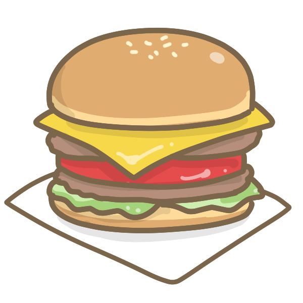 ハンバーガーのイラスト かわいいフリー素材が無料のイラストレイン