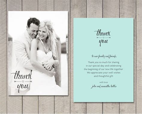 Wedding Thank You Card Printable by Vintage by