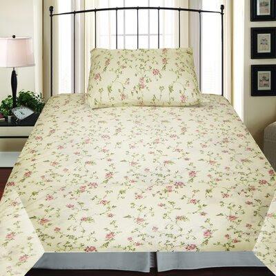 Textiles Plus Inc. Jersey Sheet Set in Spring Tanya | Wayfair