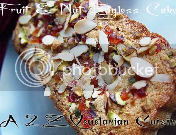 Eggless Fruit & Nut Cake