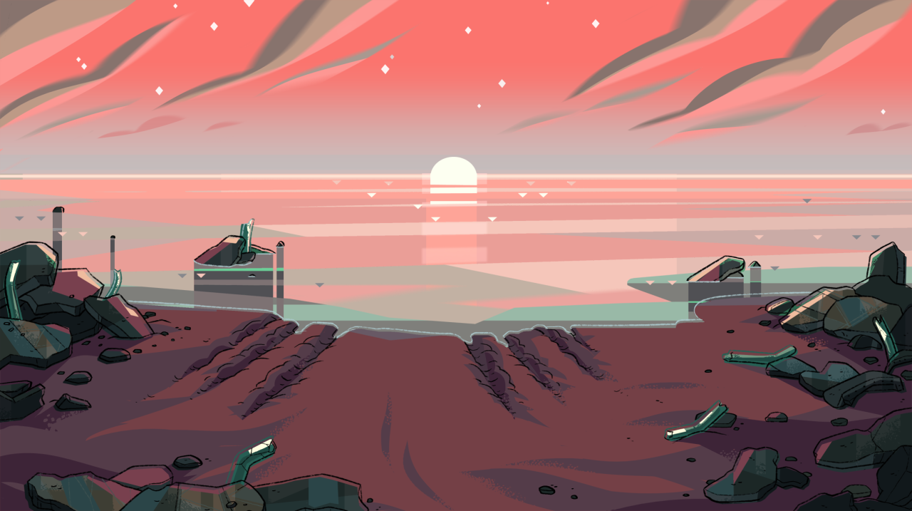 A selection of Backgrounds from the Steven Universe episode: Full Disclosure Art Direction: Jasmin Lai Design: Steven Sugar, Emily Walus, and Sam Bosma Paint: Amanda Winterstein, Ricky Cometa, and...