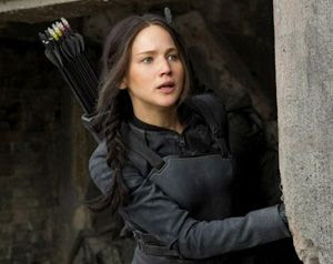 Jennifer Lawrence plays Katniss Everdeen in the second and final installment of THE HUNGER GAMES: MOCKINGJAY.