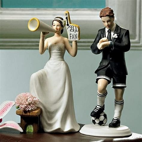 Number One Fan Cheering Bride Wedding Cake Topper