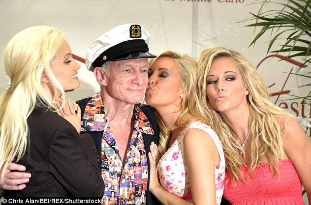 The girlfriends - who had a strict 9pm curfew on nights they didn't go clubbing with Hefner - secretly kept boyfriends on the side, and would tape up the air vents in their room so they could smoke meth without anyone knowing