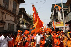 Shiv Sena  Gudi Padwa Celebrations Bandra Bazar Road 2012 by firoze shakir photographerno1