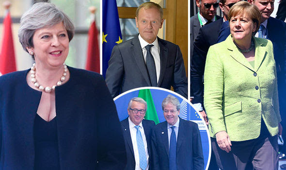 Image result for More than three million EU nationals living in the UK will be given the right to stay permanently after Brexit and treated like British citizens, Theresa May told European leaders last night.