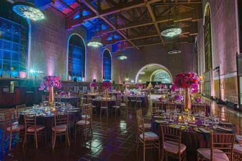 Vibrant Purple   Blue Celebration at Union Station in Los