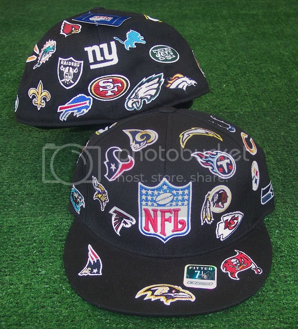 NFL LOGO Hat Cap Licensed Fitted Reebok Size 7 1/8 eBay