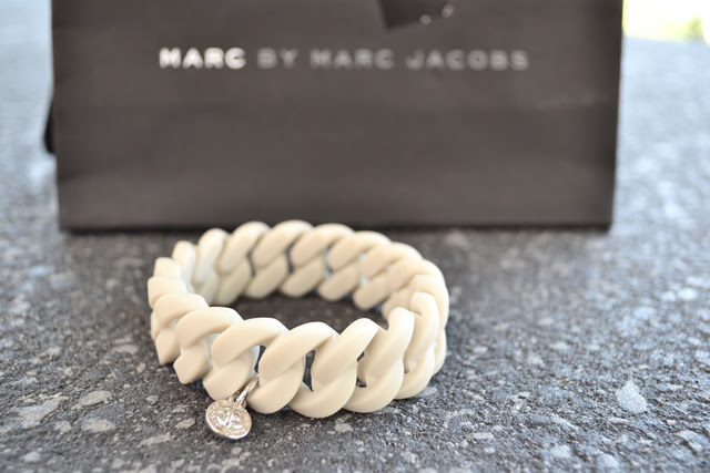 marc jacobs marc by marc jacobs bracelet rubber designer fashionblogger grey