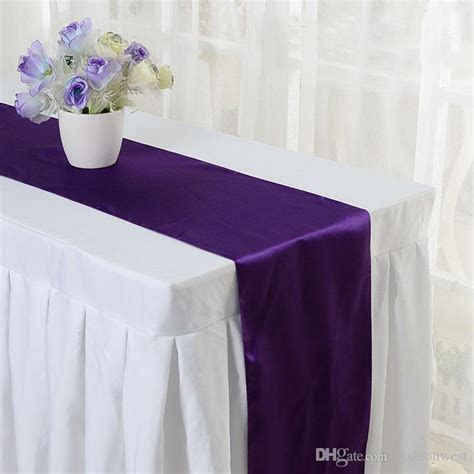 2016 Chair Sashes Satin Table Runner Wedding Party Banquet