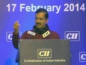 Kejriwal at CII