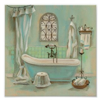 Glass Tile Bath Poster