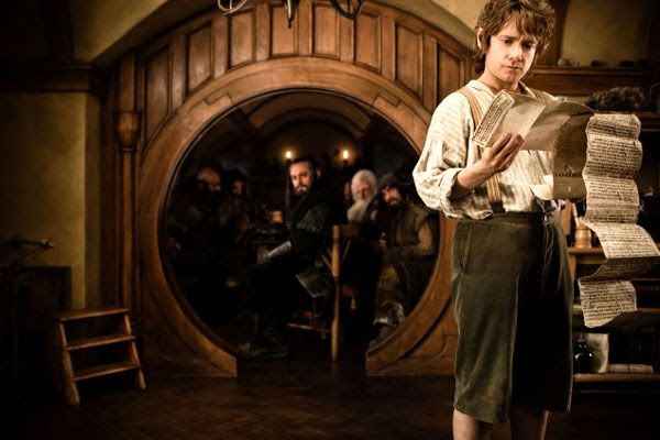 Martin Freeman plays a young Bilbo Baggins in THE HOBBIT: AN UNEXPECTED JOURNEY.