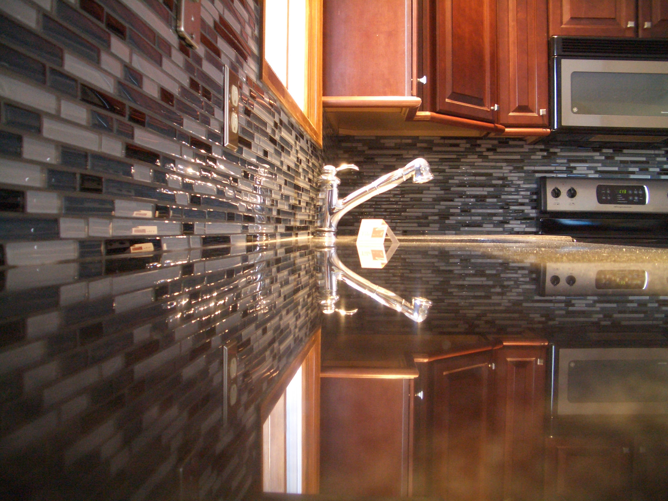 Glass Tile Kitchen Backsplash in Fort Collins
