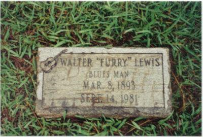 Furry Lewis' grave