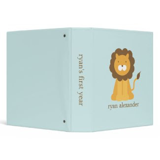 Cartoon Lion Baby Photo Binder binder