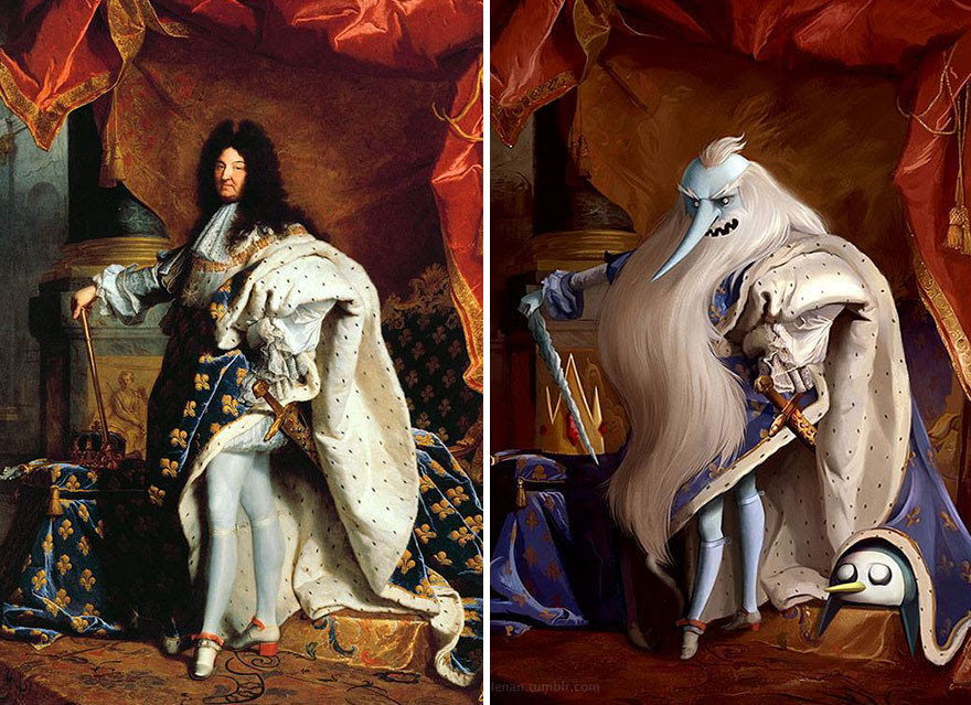 """""""A Portrait Of Louis Xiv"""" By Hyacinthe Rigaud"""