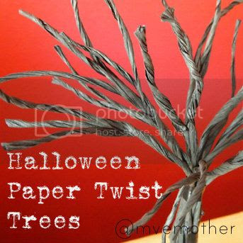 @mvemother Halloween Paper Twist Trees