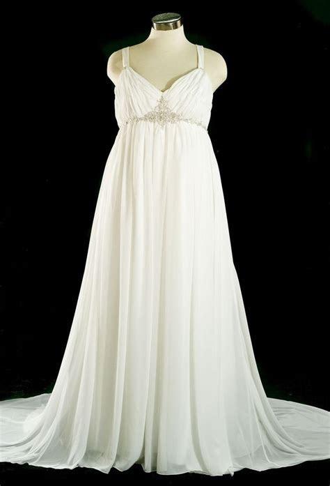 plus size womens 20s wedding dresses   plus size chiffon