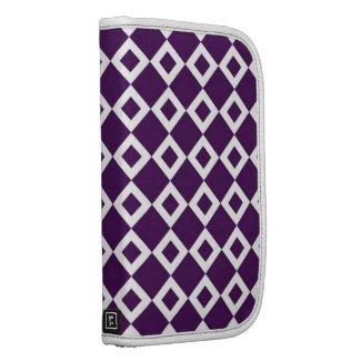Purple and White Diamond Pattern Folio Planner
