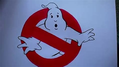 draw  ghostbusters logo youtube