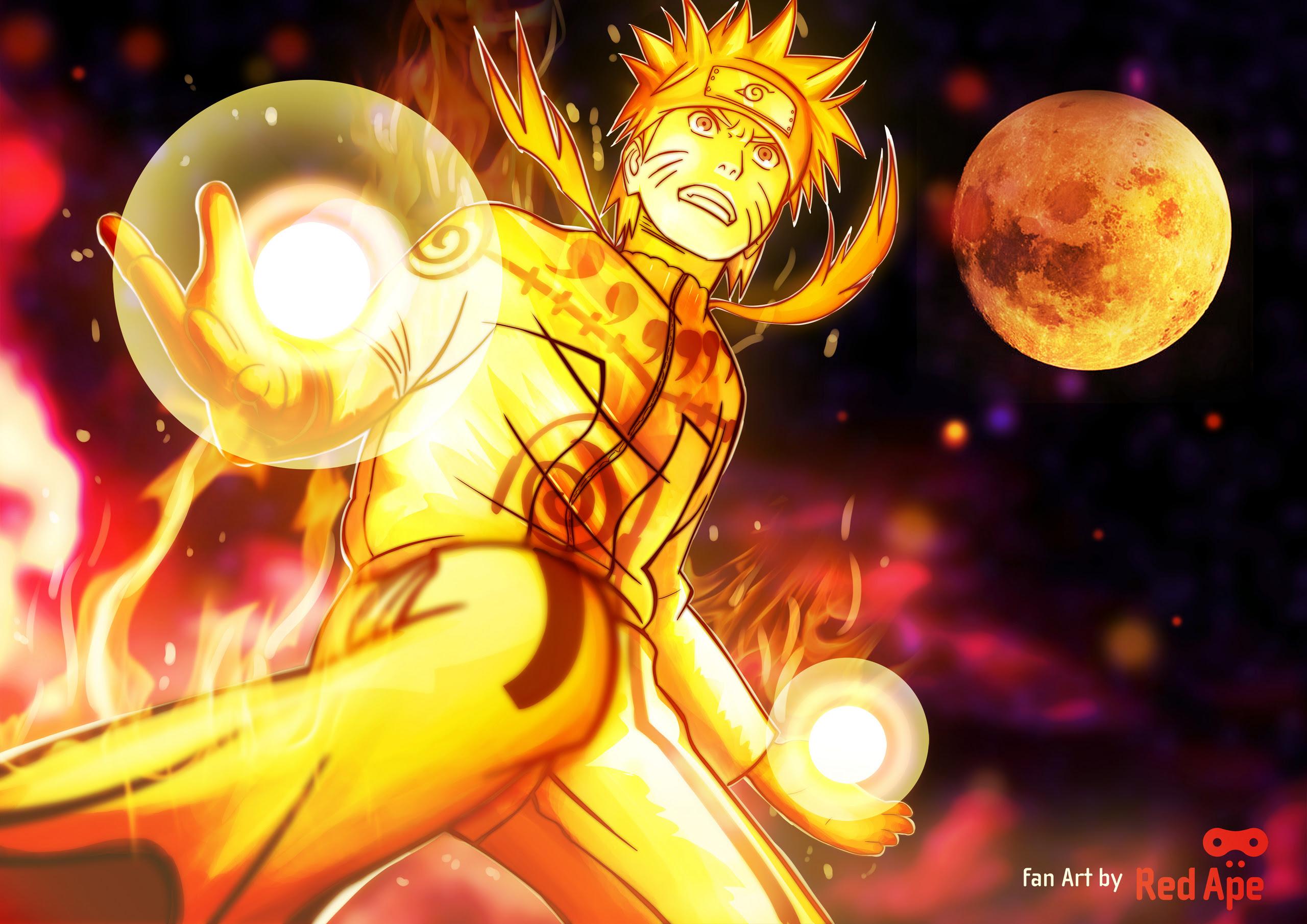 Naruto nine tails chakra mode  Uzumaki Naruto Shippuuden Photo