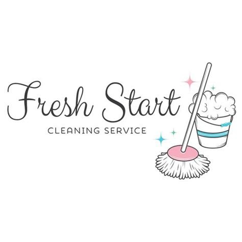 cleaning service logo customized   business
