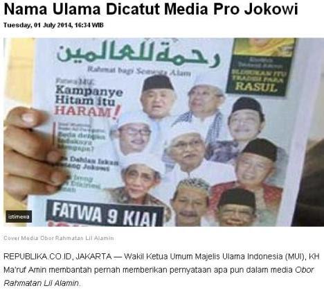 Tabloid Jokowi Catut 3 Nama Kiai....