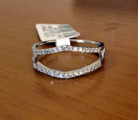 Solitaire Enhancer Diamonds Ring Guard Wrap 14k White Gold