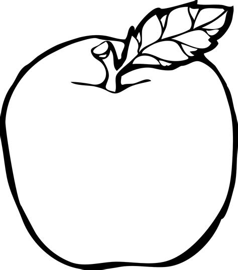 apple drawing clipart