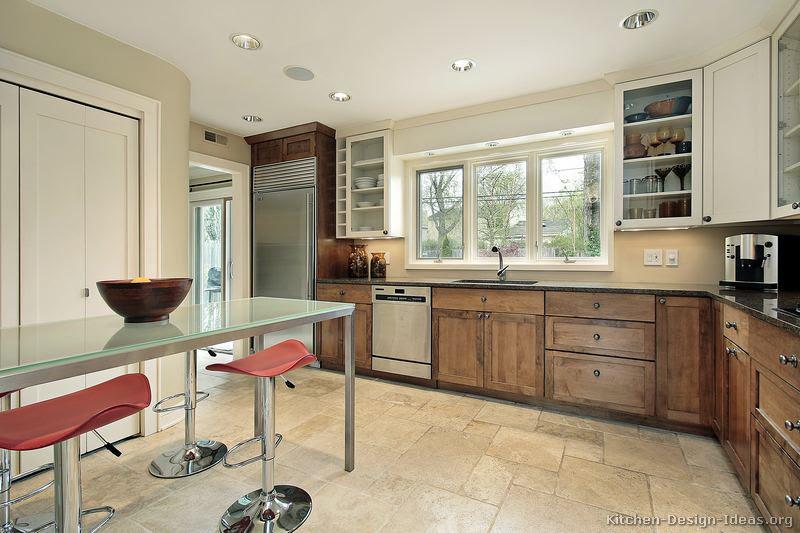 Home Architec Ideas Kitchen Design White And Brown