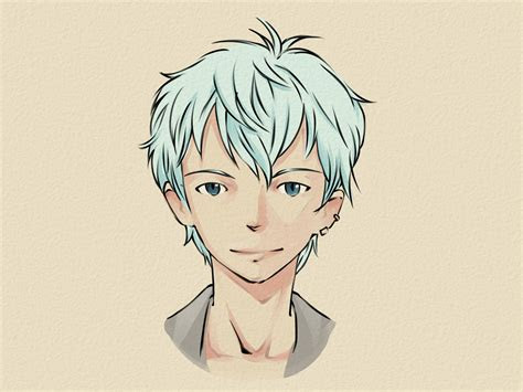 draw  manga face male  steps  pictures