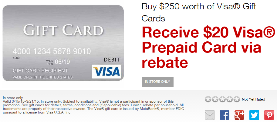 Staples Visa Gift Card Promo and Easy Rebate Deals on Paper