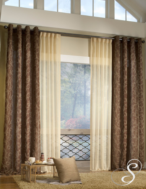 modern and fashionable living room curtains