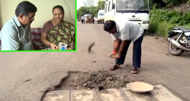 A Man Has Filled More Than 600 Potholes On Mumbai's Roads In The Loving Memory Of His Son